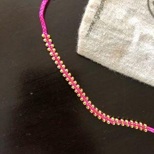 "New Gorjana Hot Pink Cotton 7"" Bracelet Beads"